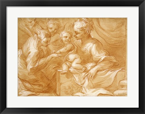 Framed Mystic Marriage of Saint Catherine Print
