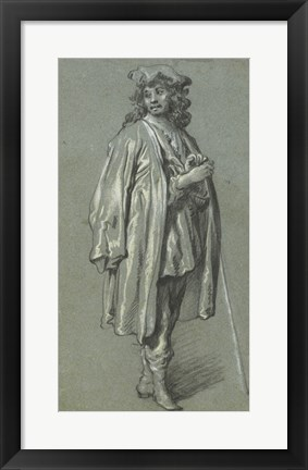 Framed Young Man Standing Print
