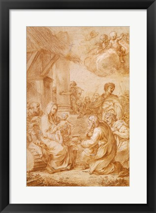 Framed Adoration of the Magi Print