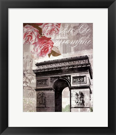 Framed Paris in Bloom II - Mini Print