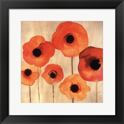 Framed Orange Poppies II -Mini Print