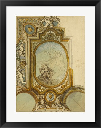 Framed Studies for a Ceiling Decoration Print
