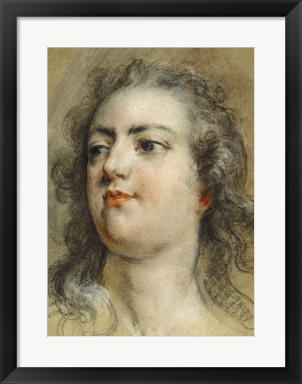 Framed Head of King Louis XV Print