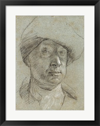 Framed Self-Portrait Wearing a Cloth Hat Print