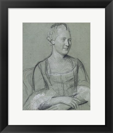 Framed Portrait of a Lady Print