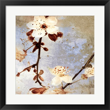 Framed Fresh Blossoms 1 Print