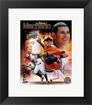 Framed Manny Machado 2013 Portrait Plus Print