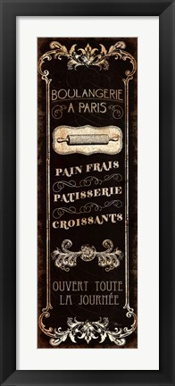 Framed Parisian Signs Panel - I Print