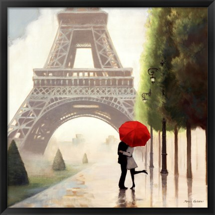 Framed Paris Romance II Print
