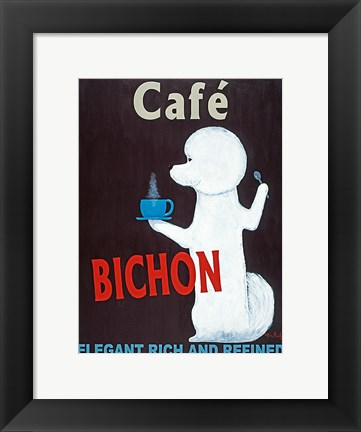 Framed Cafe Bichon Print
