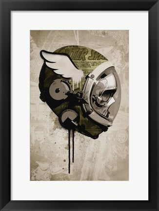 Framed Urban Spaceman Print
