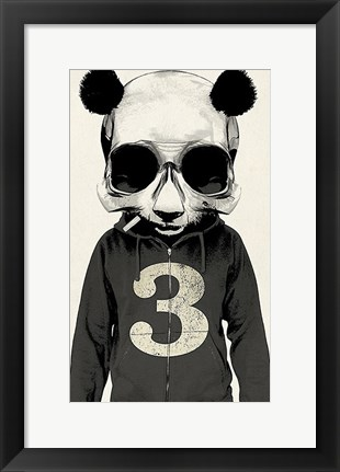 Framed Panda No. 3 Print