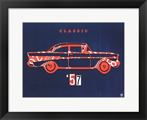 Framed 57 Chevy Print