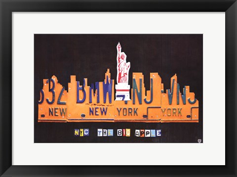 Framed NYC Skyline Print
