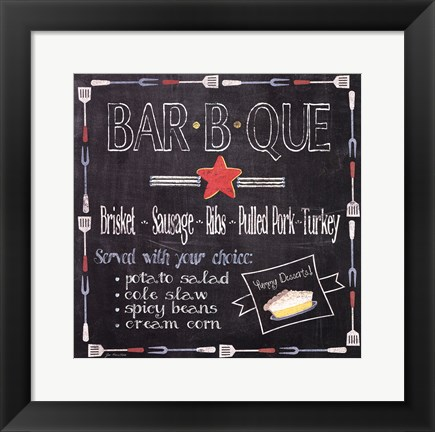 Framed Bar B Que Print
