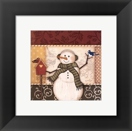 Framed Country Snowman III Print