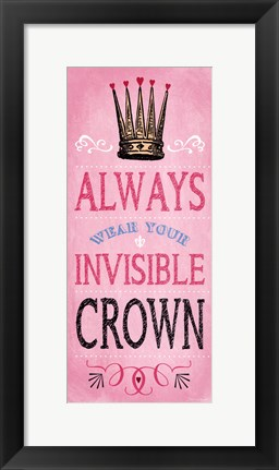 Framed Invisible Crown - Pink Print