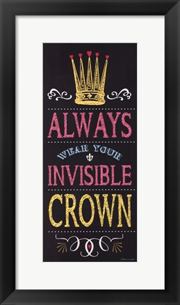 Framed Invisible Crown - Black Print