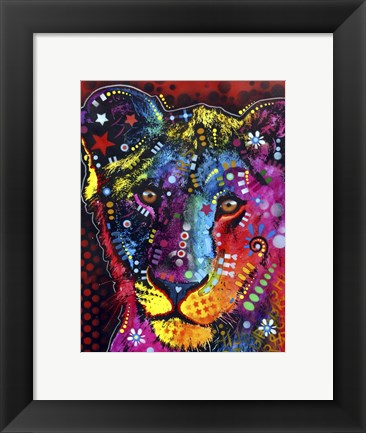 Framed Young Lion Print