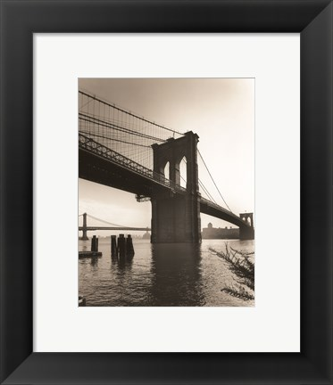 Framed Brooklyn Bridge II Print