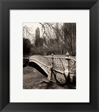 Framed Pine Bank Bridge NYC Print