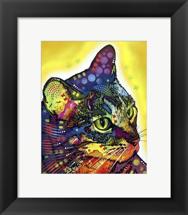 Framed Confident Cat Print