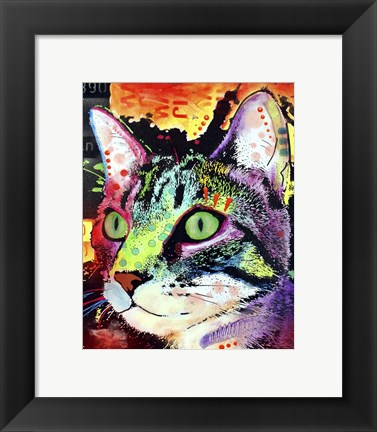 Framed Curiosity Cat Print