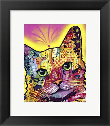 Framed Tilt Cat Print