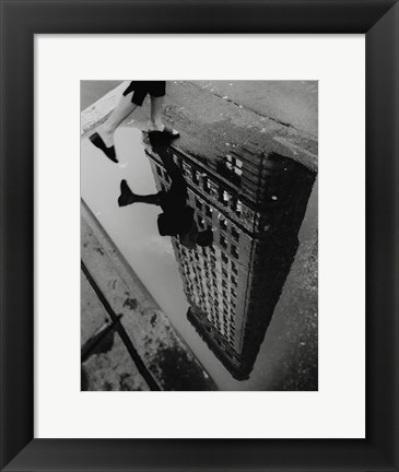 Framed Street Reflections Print