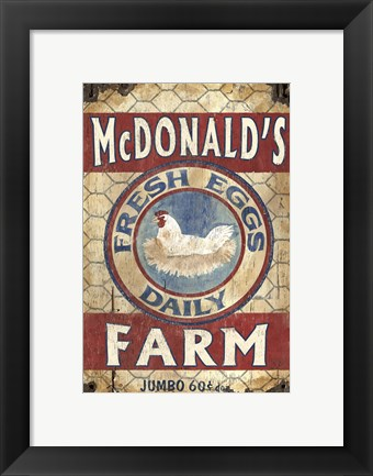 Framed Egg Farm Print