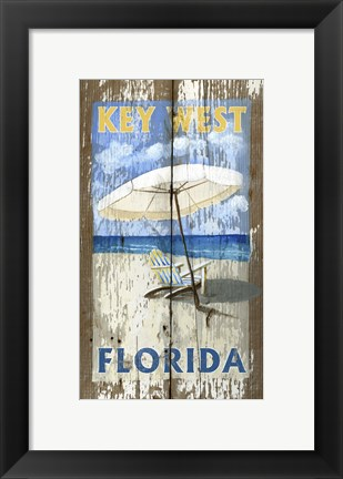 Framed Beach Umbrella Print