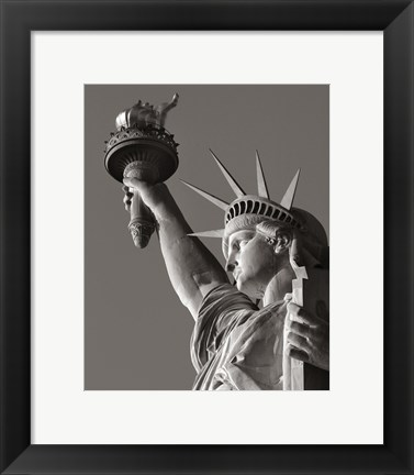 Framed Liberty with Torch Print
