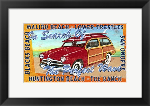 Framed California Surf Print