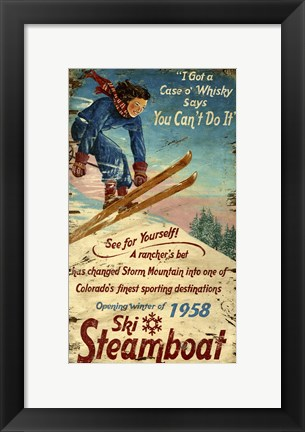 Framed Steamboat Print