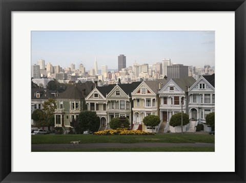 Framed Painted Ladies San Franciso 1 Print