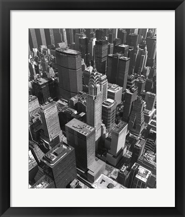 Framed Chrysler Building And Midtown Manhattan Print