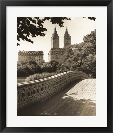 Framed Bow Bridge NYC Print