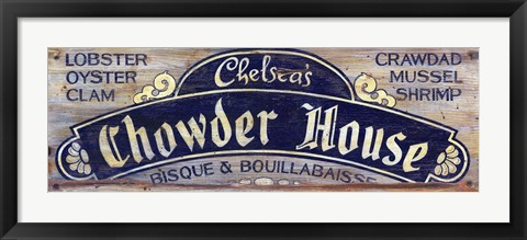 Framed Chowder House Print