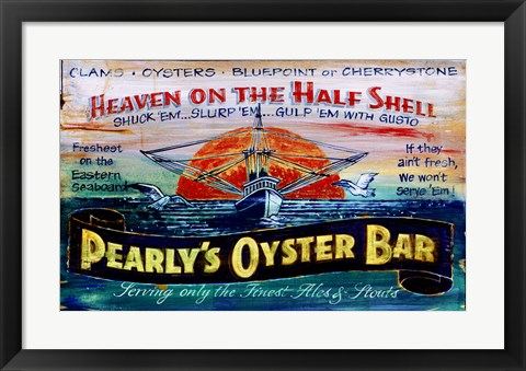 Framed Pearlys Oysters Print