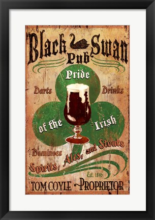 Framed Irish Pub Print