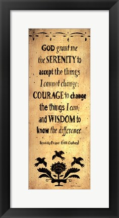 Framed Serenity Prayer Print