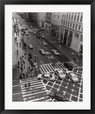 Framed Aerial View 5th Ave NYC Print