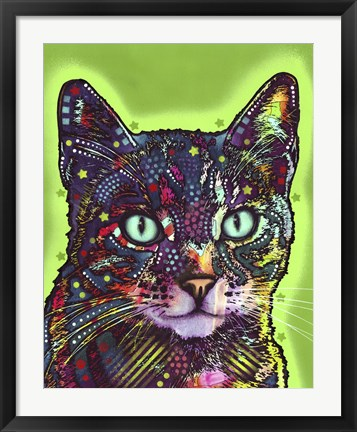 Framed Watchful Cat Print