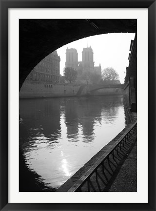 Framed Notre Dame Reflection Print