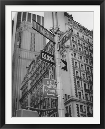 Framed Times Square and 42nd Street Print