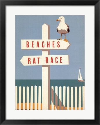 Framed Beaches vs. Rat Race Print