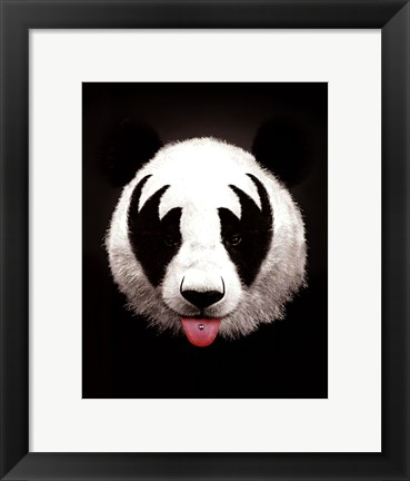 Framed Panda Rocks Print