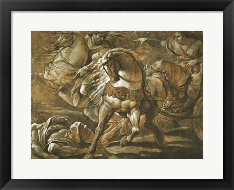 Framed Tullia about to Ride over the Body of Her Father in Her Chariot Print