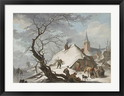 Framed Winter Scene Print