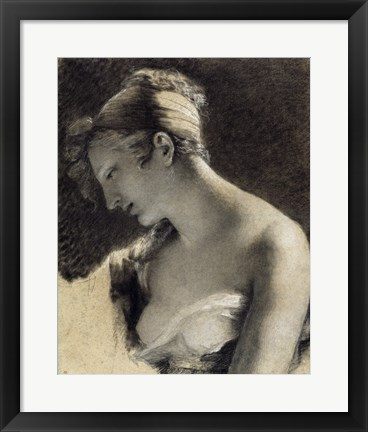 Framed Head of a Woman: Study for The Happy Mother Print